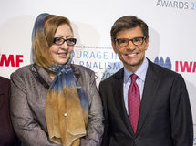 Najiba Ayubi and George Stephanopoulos Royalty Free Stock Images
