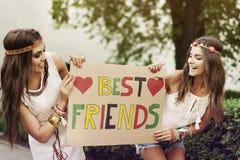 Najlepsi Przyjaciele Fotografia Royalty Free