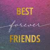 Najlepsi przyjaciele na zawsze dla walentynka dnia karty Zdjęcie Stock