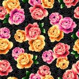 najlepsza nowożytna ornamentu wzoru klingerytu replicate róża bezszwowa Obraz Royalty Free