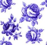 najlepsza nowożytna ornamentu wzoru klingerytu replicate róża bezszwowa Fotografia Royalty Free