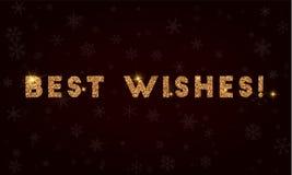 Najlepsze życzenia! ilustracja wektor