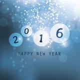 2016 najlepsze życzenia Błękitny nowego roku kartka z pozdrowieniami, pokrywa lub tło - Abstrakcjonistyczni Nowożytni Stylowi Szc ilustracji