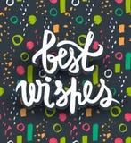 Najlepsze życzenie wektoru karta Modny literowanie projekt Kolorowy, brigh royalty ilustracja
