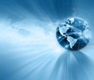 najlepszego biznesowego pojęcia globalni internety kulę Obraz Royalty Free