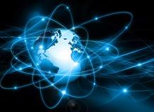 najlepszego biznesowego pojęcia globalni internety kulę Zdjęcie Stock