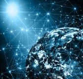 najlepszej biznesowej pojęcia pojęć globalnej kuli ziemskiej rozjarzone ręki internetów serie Zdjęcie Royalty Free