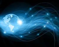 najlepszej biznesowej pojęcia pojęć globalnej kuli ziemskiej rozjarzone ręki internetów serie Obrazy Royalty Free