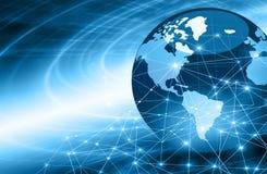 najlepszej biznesowej pojęcia pojęć globalnej kuli ziemskiej rozjarzone ręki internetów serie Fotografia Royalty Free