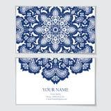 najlepszej wizytówki oryginalni druki przygotowywali szablonu wektor Zdjęcie Royalty Free