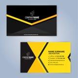najlepszej wizytówki oryginalni druki przygotowywali szablonu wektor Kolor żółty i czerń Zdjęcia Stock