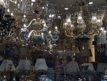 Najlepszy abażurki & świecznik Robimy zakupy Sishane Istanbuł fotografia stock
