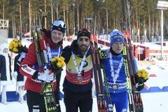 Najlepszy biathlete sezon 2017/2018 Martin Fourcade Francja Zdjęcie Stock