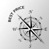 Najlepszy cena pisać na boku kompas Obraz Stock