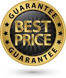 Najlepszy ceny gwaranci złota etykietka, wektorowa ilustracja Obrazy Royalty Free
