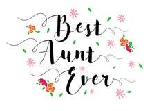 Najlepszy ciocia Kiedykolwiek Fotografia Stock