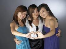 najlepszy each dziewczyny inny pozuje trzy Zdjęcia Stock