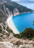Najlepszy grek plaża, Myrthos Zdjęcie Stock