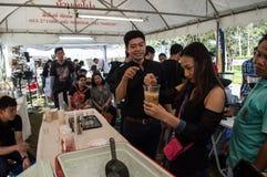 Najlepszy herbata przy Singh parkiem & kawa Robić lodowej kawie, warsztat zdjęcie stock