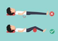Najlepszy i złe pozycje dla spać, ilustracja, ilustracja wektor