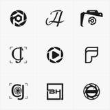 najlepszy ikona logo ustawiający dla twój biznesu Obraz Royalty Free
