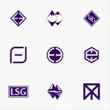 najlepszy ikona logo ustawiający dla twój biznesu Fotografia Royalty Free