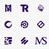 najlepszy ikona logo ustawiający dla twój biznesu Fotografia Stock