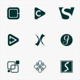 najlepszy ikona logo ustawiający dla twój biznesu Obraz Stock