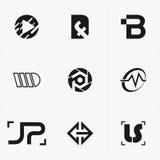 najlepszy ikona logo ustawiający dla twój biznesu Zdjęcie Royalty Free