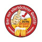 Najlepszy ilości piwo Najlepszy browar w mieście - Niemiecki język ilustracja wektor
