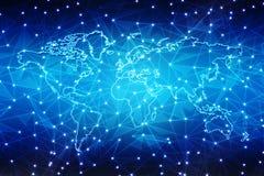 Najlepszy Internetowy pojęcie globalny biznes, Cyfrowej technologii Abstrakcjonistyczny tło Elektronika, Fi, promienie, symbolu i ilustracji
