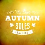 Najlepszy jesieni sprzedaży rocznika typografii plakat Zdjęcie Stock