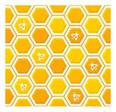 najlepszy komputer wytwarzaj?cy honeycomb wzoru repicate bezszwowy Obrazy Royalty Free