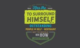Najlepszy lider jest osobą który sens ono otaczać royalty ilustracja