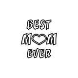Najlepszy mama Kiedykolwiek Kartka Z Pozdrowieniami ` s Macierzysty dzień Ręki literowanie, powitanie inskrypcja Zdjęcia Stock