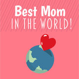 Najlepszy mama w światowym wektorze Obrazy Stock