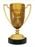 najlepszy mum s trofeum świat Obrazy Stock
