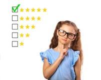Najlepszy ocena, cenienie, online rewiew Biznesowy główkowania st zdjęcia stock