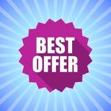 Najlepszy oferty pojęcie Druk ikona na jaskrawym tle Zdjęcia Royalty Free
