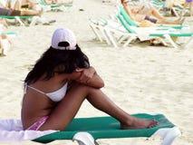 najlepszy opalenizna plaży Obraz Royalty Free