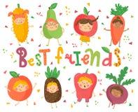 Najlepszy owocowi przyjaciele Obrazy Stock