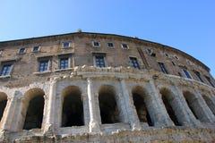 Najlepszy piękna fasada antyczny stary rzymski Theatre Marcellus w Ro zdjęcie royalty free