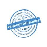 Najlepszy produkt rok, konsumpcyjny ` s wyborowy Niemiecki język ilustracja wektor