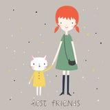 Najlepszy przyjaciel karta lub tło Obrazy Stock