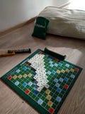 Najlepszy rodzinna gra planszowa dla rodzinnego wakacje zdjęcie stock