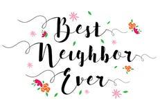 Najlepszy sąsiad Kiedykolwiek Zdjęcia Royalty Free