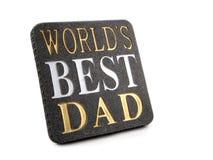 najlepszy tata światów Zdjęcie Stock