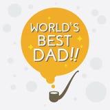 Najlepszy tata, Szczęśliwy ojca dzień Fotografia Stock