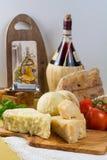 Najlepszy Włoski jedzenie - świeży caciocavallo, pecorino, pamesane chees Obrazy Stock