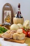 Najlepszy Włoski jedzenie - świeży caciocavallo, pecorino, pamesane chees Zdjęcia Royalty Free